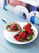 Strawberries with chocolate dip