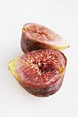 Halved fresh fig