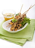 Chicken skewers with sweet chilli sauce