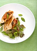 Chicken breasts with vegetable and chorizo stuffing