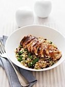 Spicy chicken breast with bulgur wheat salad