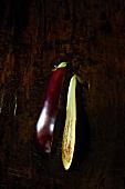 Halved aubergine