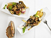 Mushroom antipasti with lemon dressing