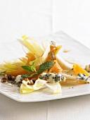 Chicory salad with Gorgonzola and Moscato melon