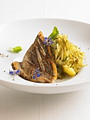 Fillet of sea bream with olive crushed potatoes