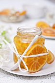 No-cook orange marmalade in jar