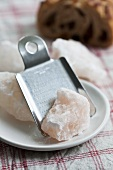 Rock salt with grater