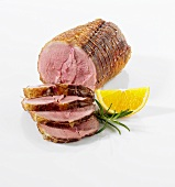 Rolled roast of duck