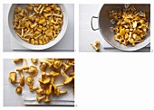 Cleaning chanterelles