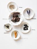 Flavours: chocolate, aniseed, lavender, tonka beans, mace, vanilla, vanilla oil