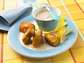 Fish nuggets with sauce