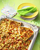 Colourful quiche for kids