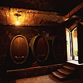 Wine barrels of the Valdhuber Wine Estate, Svecina, Slovenia