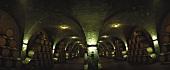 Wine cellar, Tenuta Corte Pavone, Montalcino, Tuscany, Italy