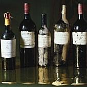 Old bottles: Madeira, Lafite, Margaux, Yquem, Latour