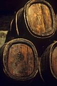 Old chestnut Vin Santo barrels,  Tuscany,  Italy