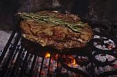 Bistecca alla fiorentina (Grilled beef steak, Italy)