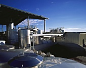 Stainless steel tanks, Haselgrove Wines, McLaren Vale, S. Australia