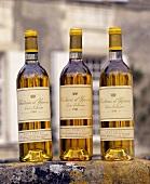 Château d'Yquem wine bottles, Sauternes, Gironde, France