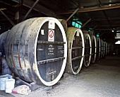 Wine barrels, Morris Wines, Rutherglen, Australia