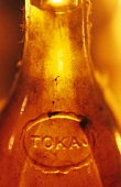 Old bottle of sweet Tokaj wine, Oremus Winery, Hungary