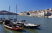 Traditional port wine boats, Porto old town, Portugal