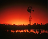 Windmill in Lower Hunter Valley, New South Wales, Australia