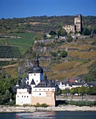 Zollburg Pfalzgrafenstein & Burg Gutenfels, Kaub, Middle Rhine, Germany