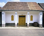 Winemaker's house in the wine village of Villánykövesd, Hungary