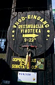 Signpost to vinotheque, Slovenia