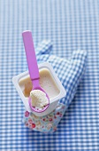 Home-made rice milk yoghurt