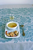 Cream of lentil soup with coconut milk