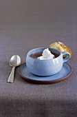 Hot chocolate with cinnamon and orange whipped cream