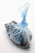 Mackerel fillets in a plastic bag