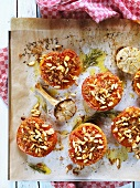 Baked tomatoes with pine nuts