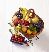 A basket of fresh fruit