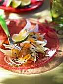 Fennel salad with haddock