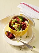 Broccoli salad with kidney beans