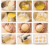 Making tagliatelle
