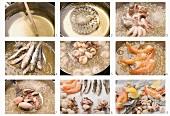 Fritto Misto zubereiten: Meeresfrüchte frittieren