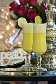 Snowball drinks made with egg nog (Christmas)