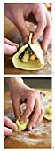 Cornish Pasty (Gefüllte Teigtasche) zubereiten