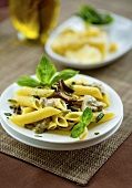 Penne with porcini mushrooms