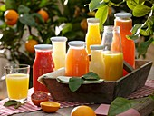 Various citrus fruit juices