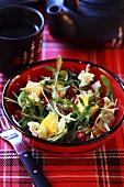 Rocket and fruit salad with jasmine tea dressing