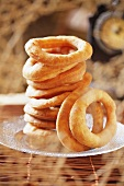 Fried pastry rings, stacked