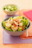Prawn ceviche with avocado, lettuce and jalapenos