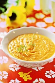 Summery cream of carrot soup