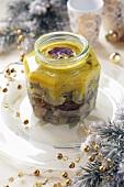 Herrings in mustard marinade for Christmas