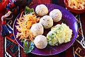 Fish balls with mashed potato